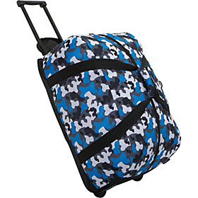 Blue Camo Good Times Rolling Duffel Bag Blue Camo