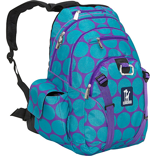 Wildkin Big Dots Aqua Serious Backpack - Big Dots Aqua