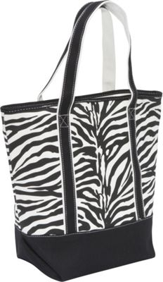 Earth Axxessories Canvas Zebra Tote