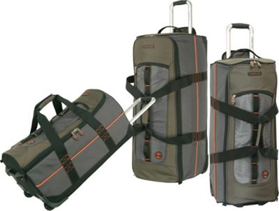 Timberland Jay Peak 3 Piece Set Burnt Olive - Timberland Luggage Sets