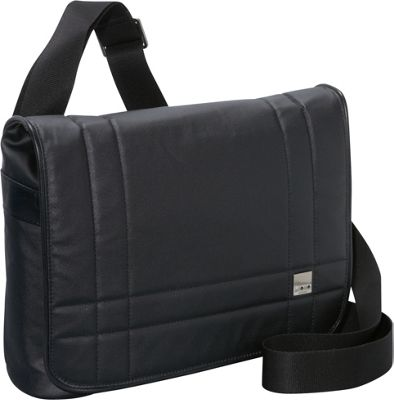 Knomo Mini-Saxby Messenger for 11 laptops (Netbooks), iPad & Tablet Black Matte - Knomo Laptop Messenger Bags