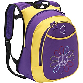O3 Kids Pre-School Peace Flower Backpack with Integrated Lunch Cooler Peace Flower