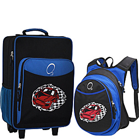 O3 Kids Racecar Luggage and Backpack Set With Integrated Cooler Racecar