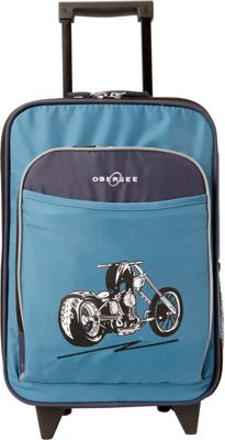 Obersee Kids Motorcycle 16 inch Upright Carry-On Blue Motorcycle - Obersee Softside Carry-On