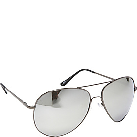 Fashion Oversized Aviator Sunglasses Mirror Reflected Lens Gray