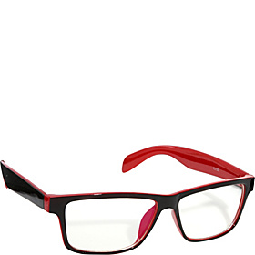 Rectangle Fashion Sunglasses Black with Blue Frame Clear Lens for Women and Men Reds
