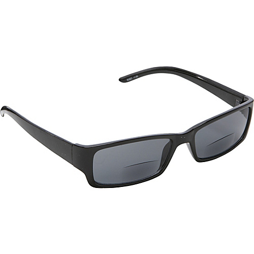 SW Global Rectangle Fashion Sunglasses Black with Vision Power 1.5 Black - SW Global Eyewear