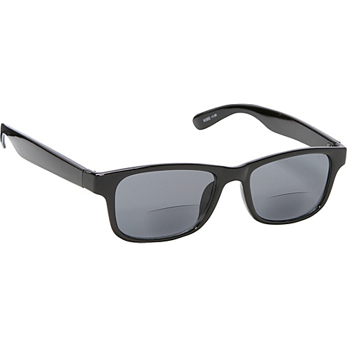 SW Global Square Fashion Sunglasses Black with Vision Power 2.5 Black - SW Global Eyewear