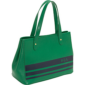 Newbury Stripes Large Shopper Kelly Green/Navy