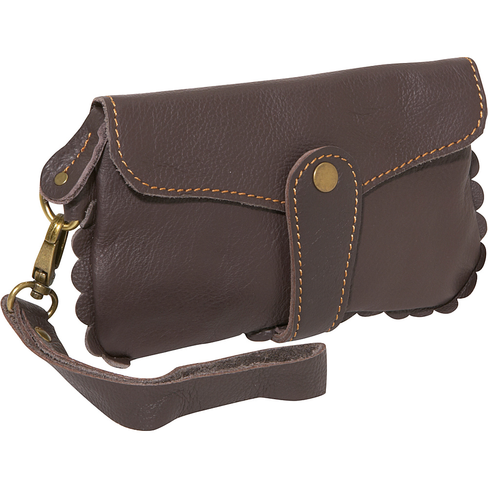 AmeriLeather Emi Wristlet Purse - Dark Brown - Handbags, Leather Handbags