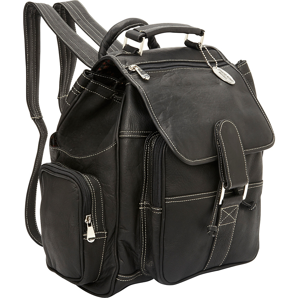 David King & Co. Deluxe Top Handle Extra Large Backpack Black - David King & Co. Everyday Backpacks