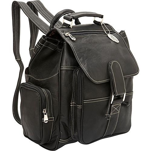 David King & Co. Deluxe Top Handle Extra Large Backpack Black - David King & Co. School & Day Hiking Backpacks
