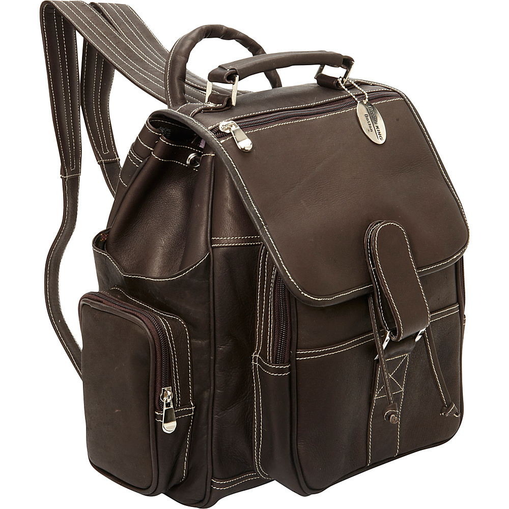 David King & Co. Deluxe Top Handle Extra Large Backpack Cafe - David King & Co. Everyday Backpacks