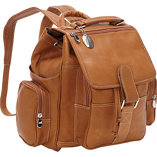 David King & Co. Deluxe Top Handle Extra Large Backpack Tan - David King & Co. School & Day Hiking Backpacks
