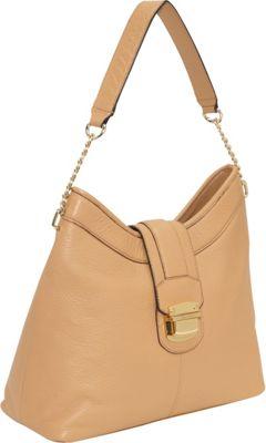 Calvin Klein Palm Springs LT Hobo Camel Calvin Klein Leather Handbags
