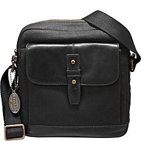 Dillon Canvas City Bag Black