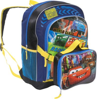 Disney Cars 2 Backpack with Lunch Sack