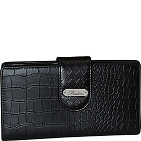 Croco Super Wallet Black