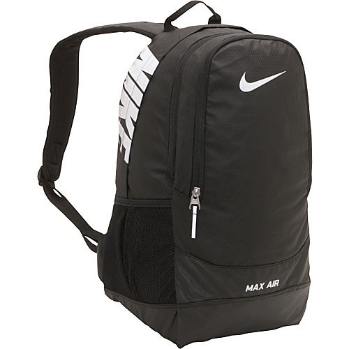 [Image: Nike Team Training Max Air Large Backpack Black/Black /White - Nike School & Day Hiking Backpacks]