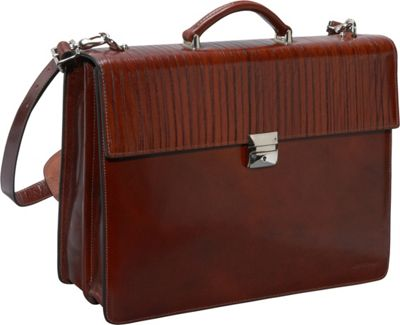 Jack Georges Monserrate Collection Double Gusset Flapover Cognac - Jack Georges Non-Wheeled Business Cases