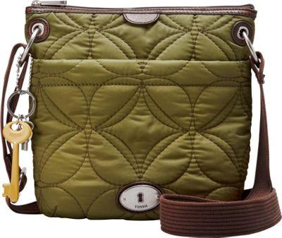 Fossil Key Per Nylon Crossbody Avocado Fossil Fabric Handbags