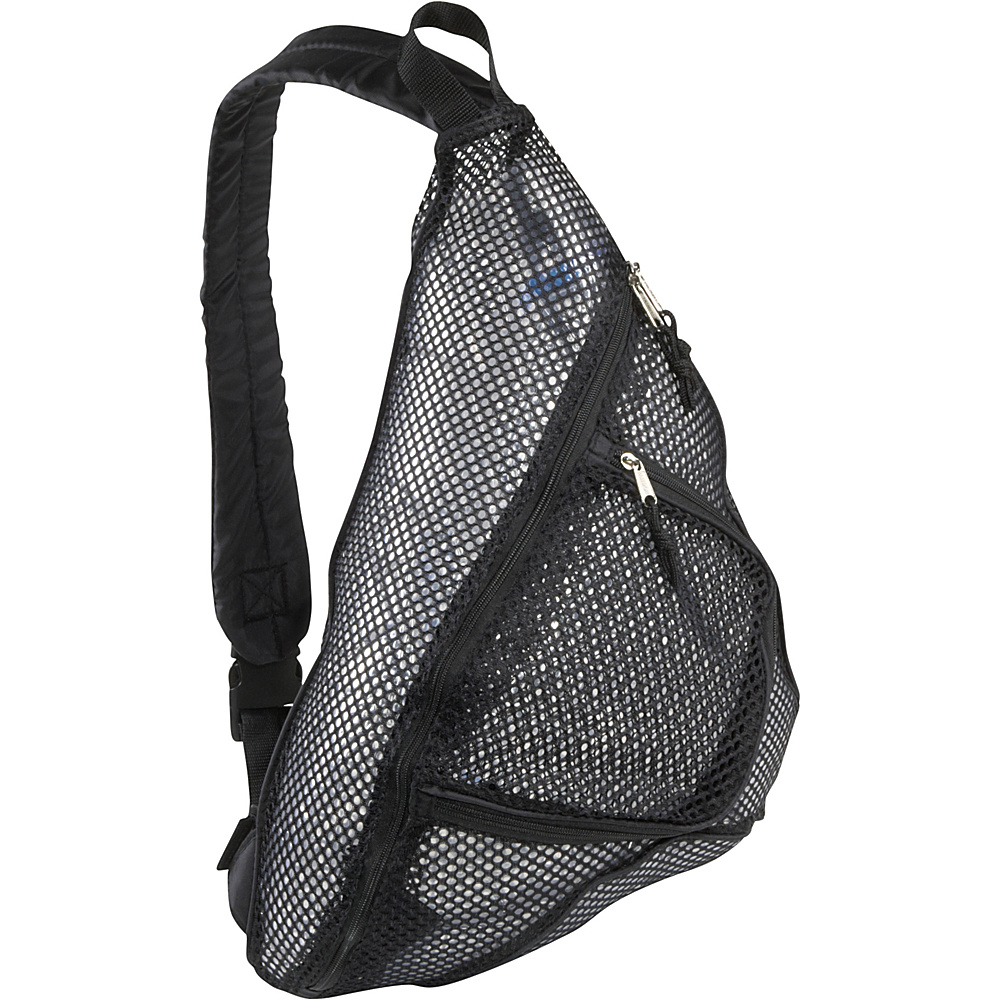 Eastsport Mesh Trapezoid Black Eastsport Everyday Backpacks