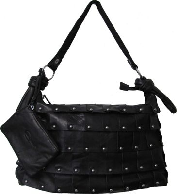 AmeriLeather Miao Leather Handbag Black - AmeriLeather Leather Handbags