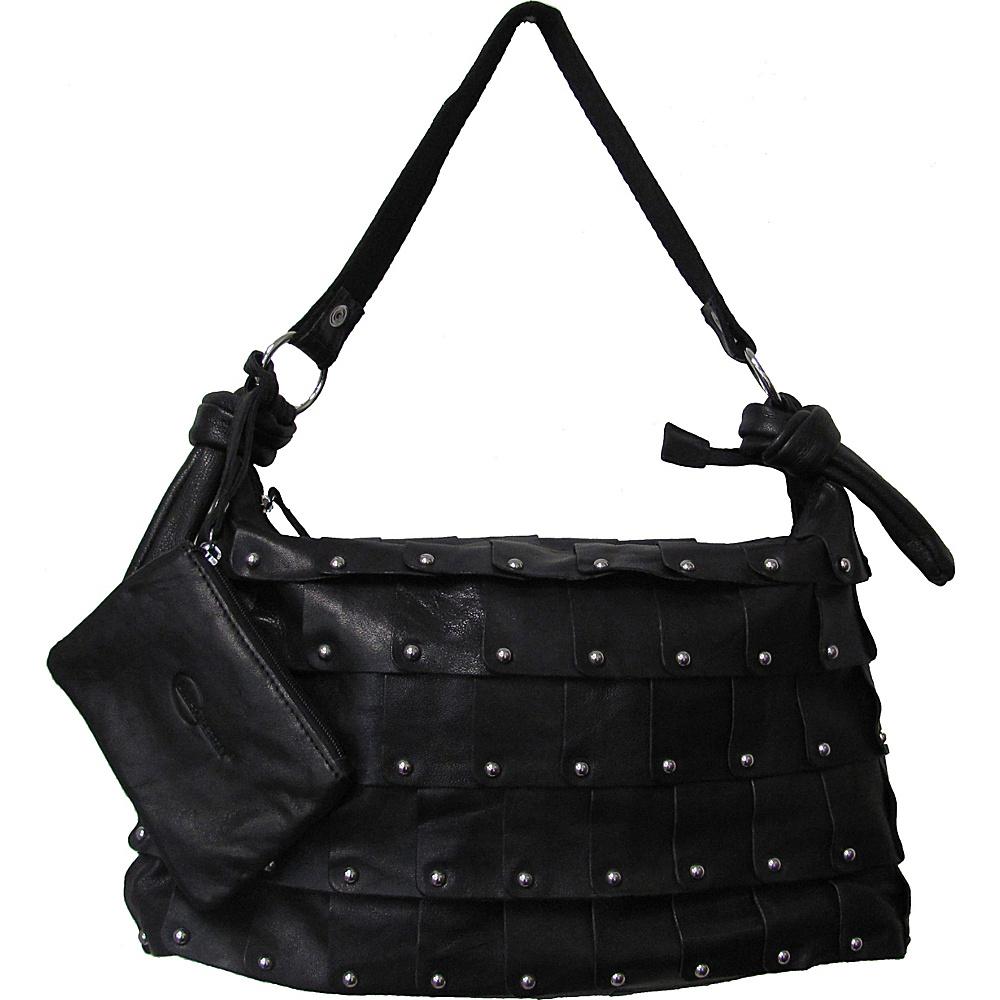 AmeriLeather Miao Leather Handbag Black - AmeriLeather Leather Handbags - Handbags, Leather Handbags
