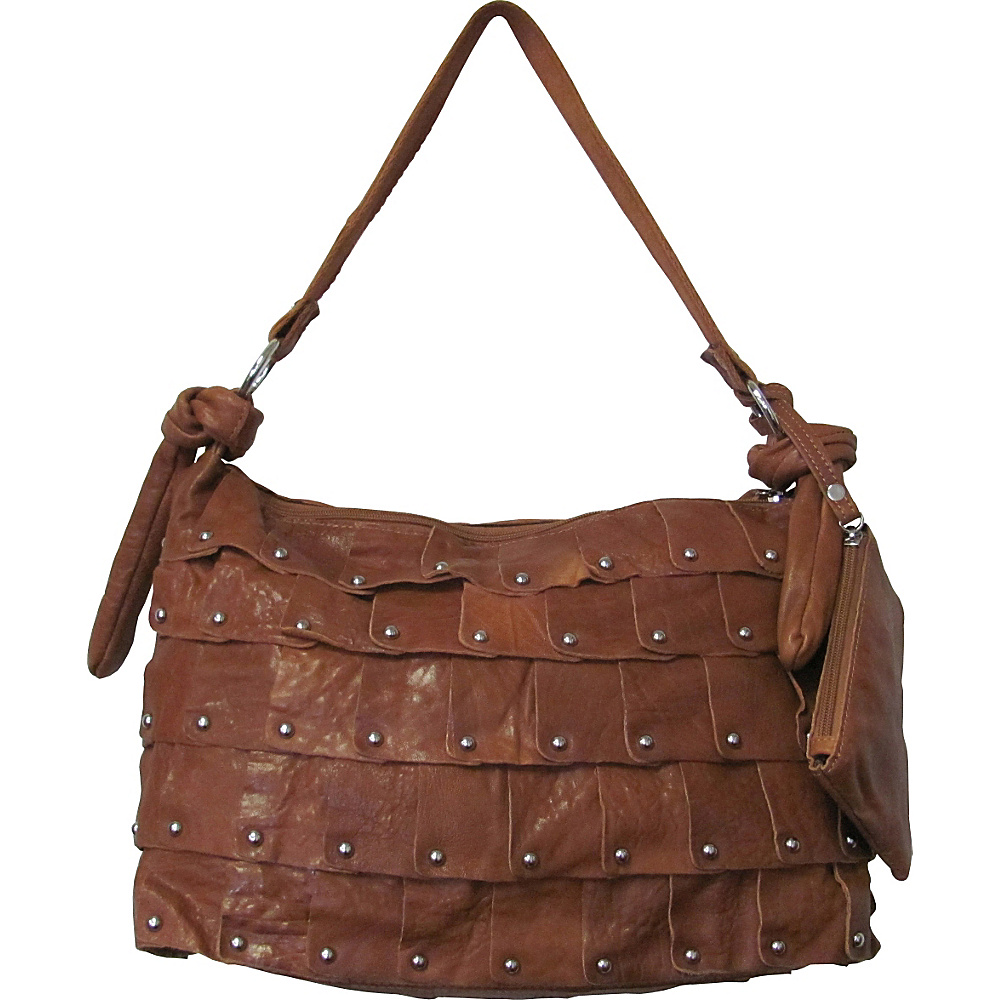 AmeriLeather Miao Leather Handbag Brown - AmeriLeather Leather Handbags - Handbags, Leather Handbags