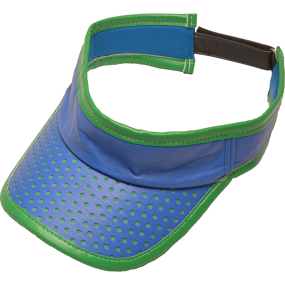 Glove It Signature Collection Velcro Visor Blue/Green Perf - Glove It Golf Bags