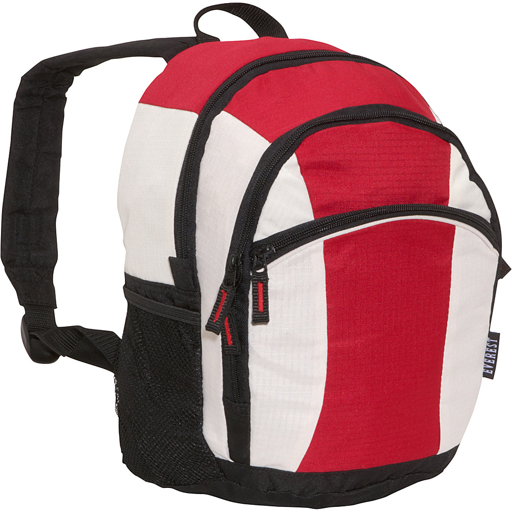 Everest Deluxe Junior Kids Backpack Red/Beige/Black - Everest Everyday Backpacks - Backpacks, Everyday Backpacks