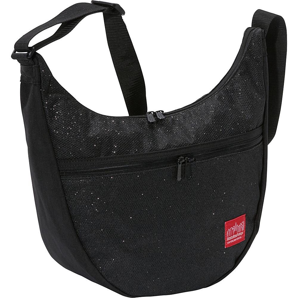 Manhattan Portage Midnight Nolita Shoulder Bag Black - Manhattan Portage Fabric Handbags - Handbags, Fabric Handbags
