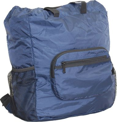 Netpack 19 inch U-zip lightweight backpack & tote Navy - Netpack Packable Bags