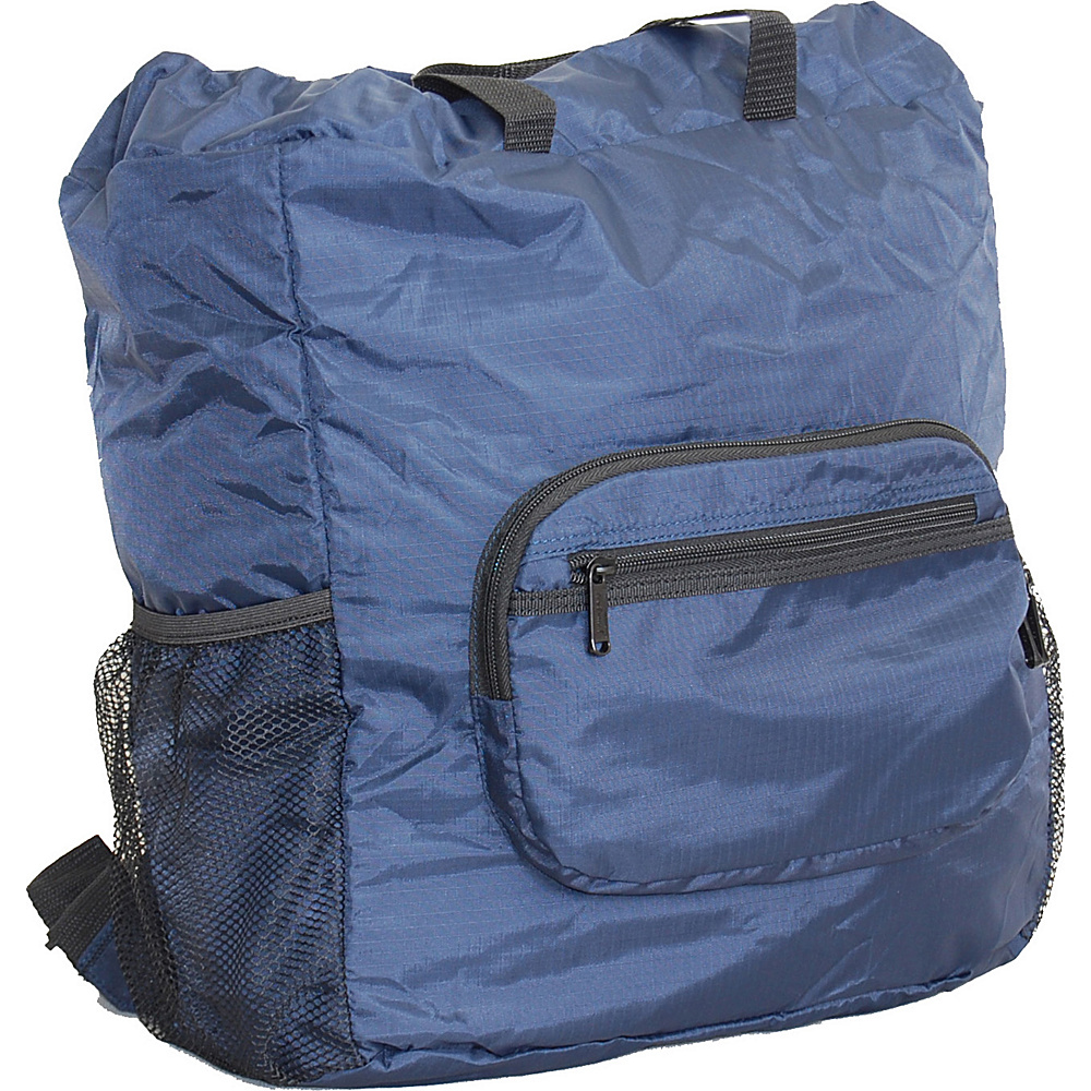 "Netpack 19"" U-zip lightweight backpack & tote Navy - Netpack Lightweight packable expandable bags"