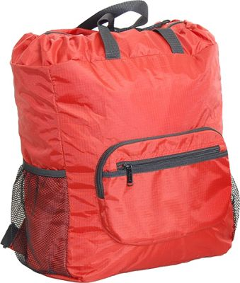 Netpack 19 inch U-zip lightweight backpack & tote Red - Netpack Packable Bags