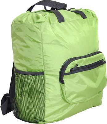 Netpack 19 inch U-zip lightweight backpack & tote Green - Netpack Packable Bags