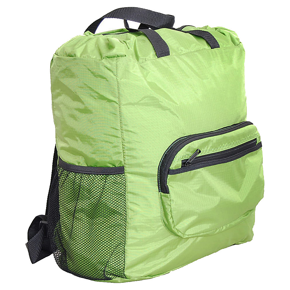 "Netpack 19"" U-zip lightweight backpack & tote Green - Netpack Packable Bags"