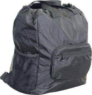 Netpack 19 inch U-zip lightweight backpack & tote Black - Netpack Packable Bags