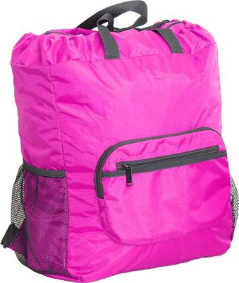 Netpack 19 inch U-zip lightweight backpack & tote Pink - Netpack Packable Bags