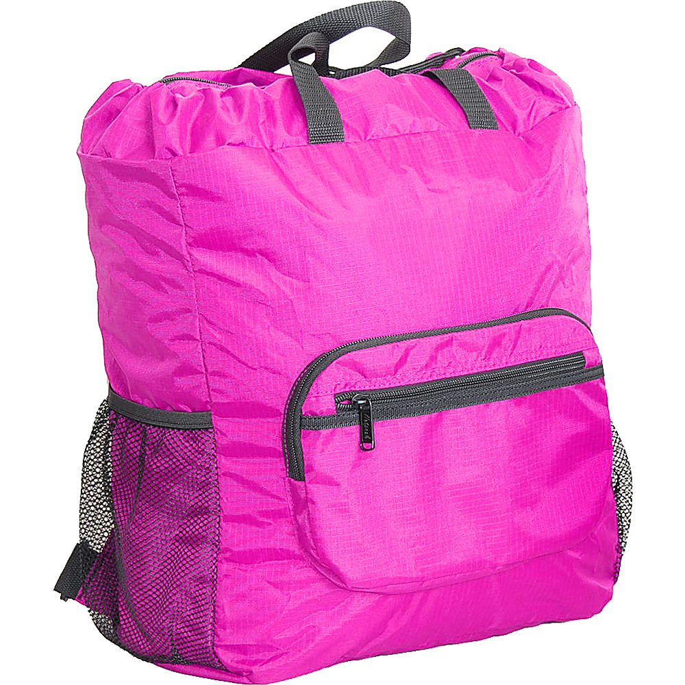 "Netpack 19"" U-zip lightweight backpack & tote Pink - Netpack Packable Bags"