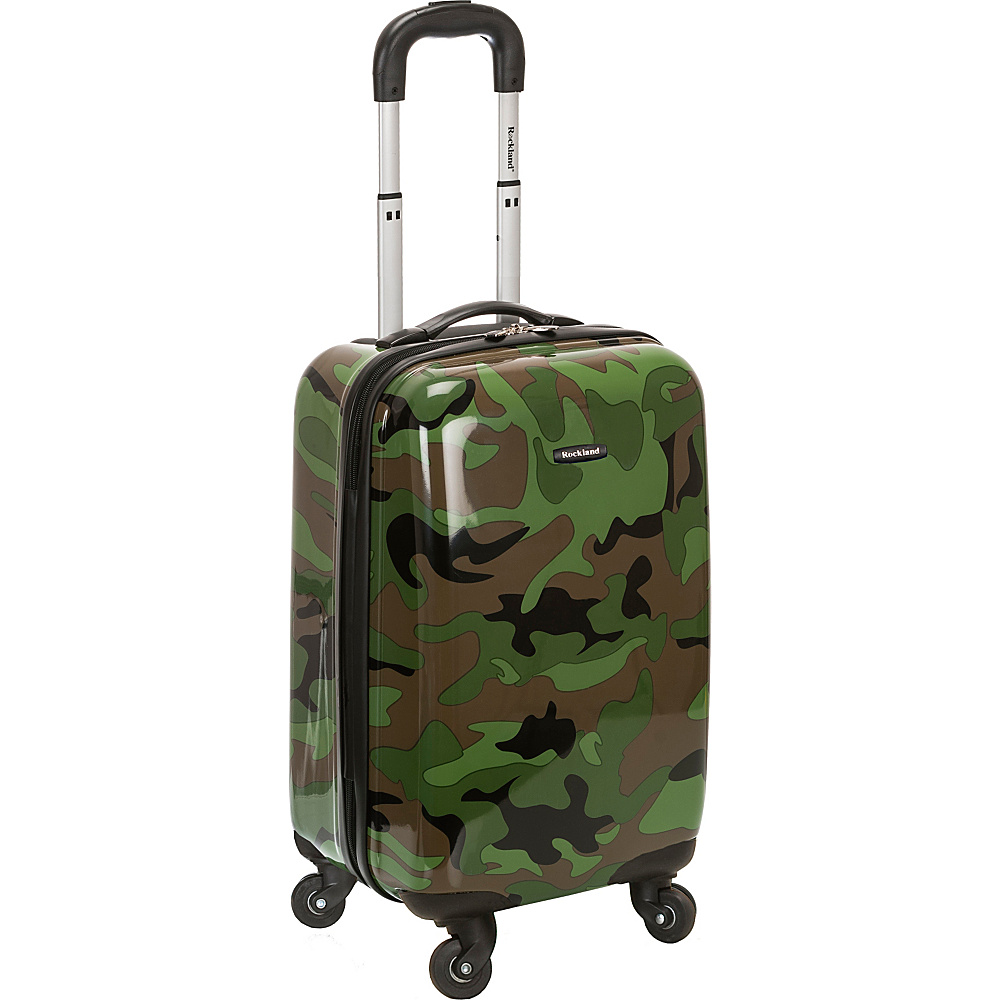 Rockland Luggage Safari 20 Hardside Spinner Carry on Camouflage Green Rockland Luggage Hardside Carry On