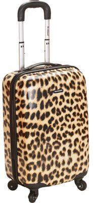 Rockland Luggage Safari Hardside Carry-On Luggage - 20 inch Leopard - Rockland Luggage Hardside Carry-On
