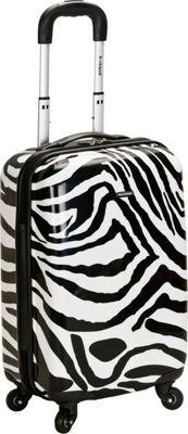 Rockland Luggage Safari Hardside Carry-On Luggage - 20 inch Zebra - Rockland Luggage Hardside Carry-On