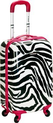 Rockland Luggage Safari Hardside Carry-On Luggage - 20 inch Pink Zebra - Rockland Luggage Hardside Carry-On