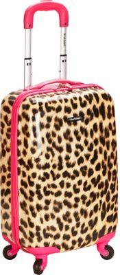Rockland Luggage Safari Hardside Carry-On Luggage - 20 inch Pink Leopard - Rockland Luggage Hardside Carry-On