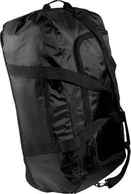 McBrine Luggage Large Wheeled Duffle Black - McBrine Luggage Softside Checked