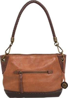 The Sak Indio Leather Demi Shoulder Bag Teak Block - The Sak Leather Handbags