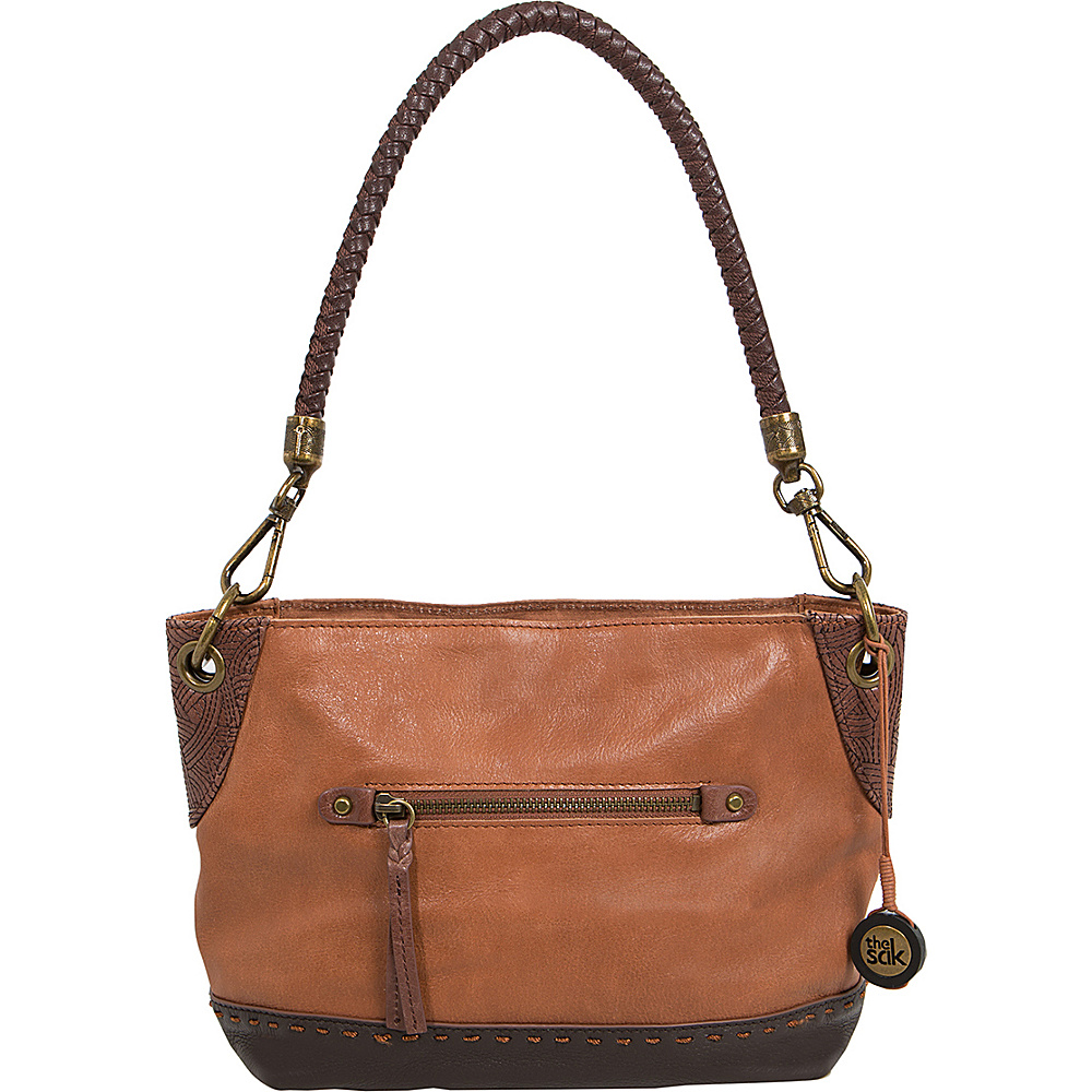 The Sak Indio Leather Demi Shoulder Bag Teak Block The Sak Leather Handbags
