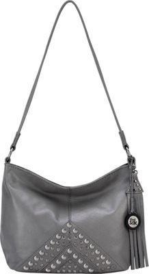 The Sak Indio Leather Demi Shoulder Bag Slate Studs - The Sak Leather Handbags