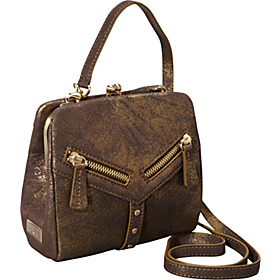 Trigger Frame Crossbody Metallic Brown